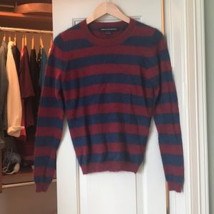 French Connection Fuzzy Striped Sweater